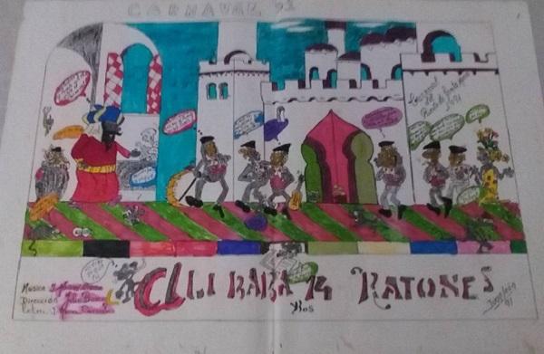 Alí Babá y los 14 Ratones - Boceto