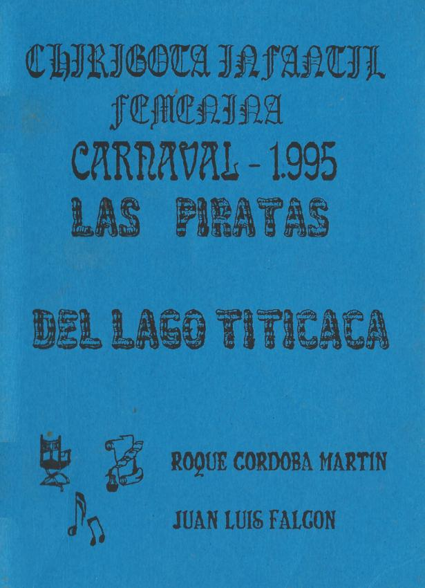 Las piratas del lago titicaca - Portada de su Cancionero