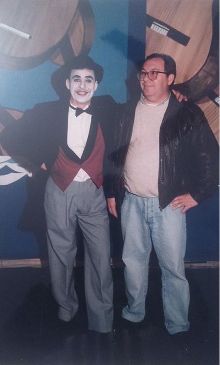 Manuel de la O con Carli Pérez