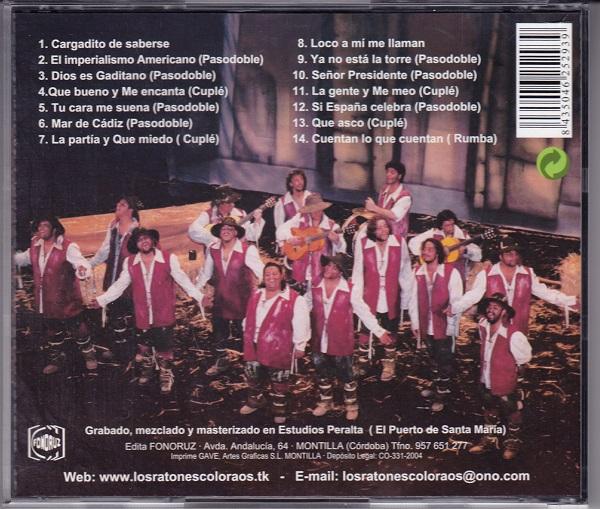 Los Ratones coloraos - Contra portada CD