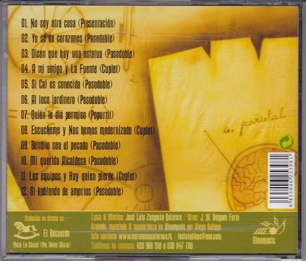 Los Lunátikos - Contra Portada CD