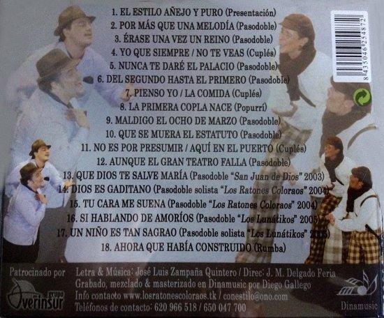 Con Estilo - Contra Portada CD