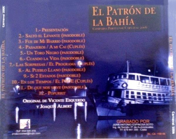 El Patrón de la Bahía - Contraportada