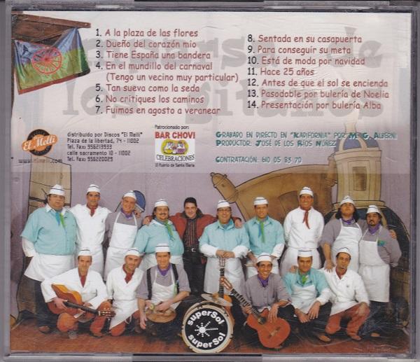 La Guapa de Cádiz - Contra Portada CD