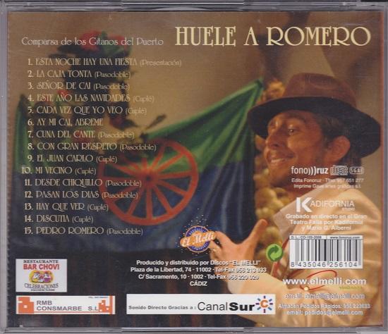 Huele a Romero - Contra-Portada del CD