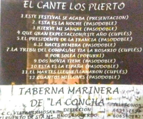 El Cante Los Puerto - Contra-Portada
