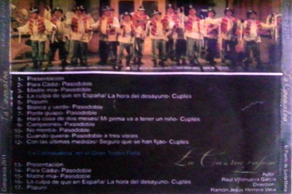 La Carnavalera - Contraportada CD