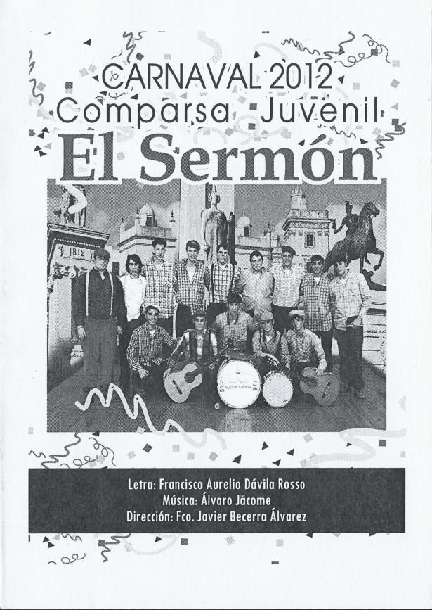 El sermón - Portada de su Cancionero
