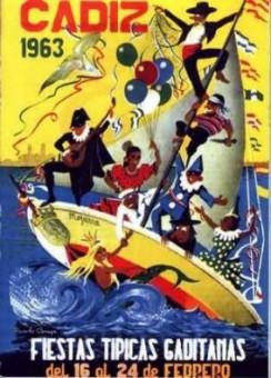Cartel Oficial de Cádiz - 1963.