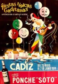 Cartel Oficial de Cádiz 1974.