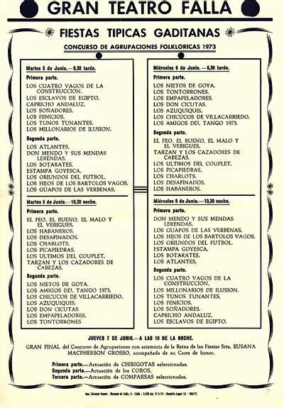 Orden de Actuación del COAC del Gran Teatro Falla