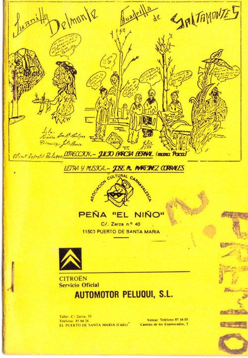 Juanillo Delmonte y su cuadrilla de saltamontes. - Cancionero