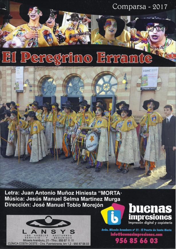 El Peregrino Errante - Portada de su Cancionero.
