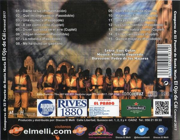CD de EL OJO DE CAI - TRASERA