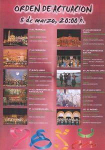 Orden de Actuación 08-03-11