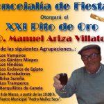 2019.- La concejalía de Fiestas otorgará el XXI Pito de Oro a..: