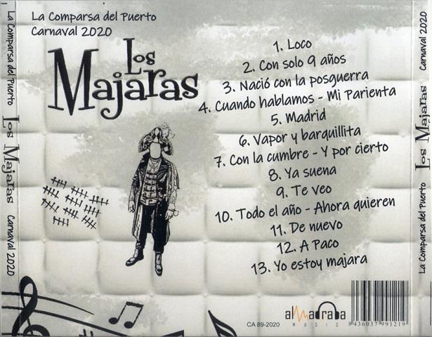 LOS MAJARAS - CD TRASERA