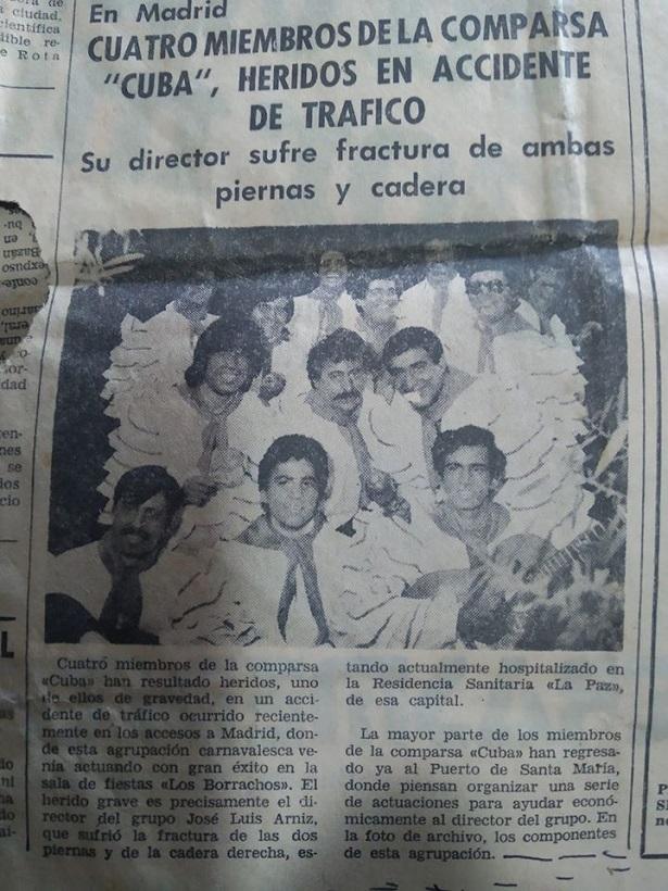 Accidente de la Comparsa CUBA