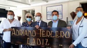 El alcalde, junto a Teófila Martínez, Curro Martínez, David Calleja y José María García Flores